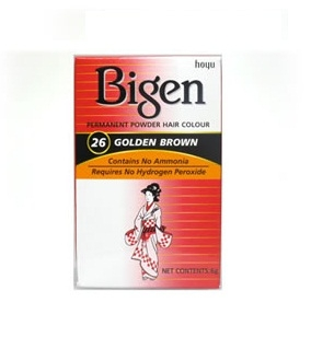 Bigen: Powder Hair Dye 6g - Golden Brown [26] 10pc