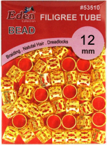 Eden: PVC Filgree Tubes - Gold 12mm (53512)