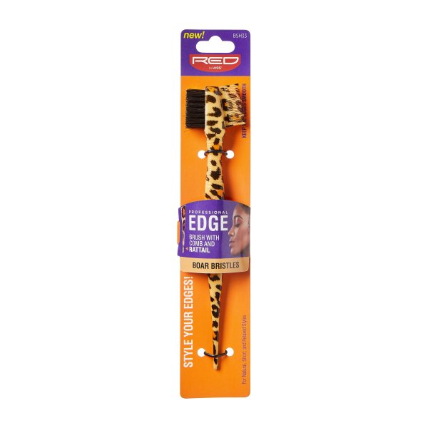 RED By Kiss: 3in1 Leopard Rat Tail Edge Brush (BSH33)