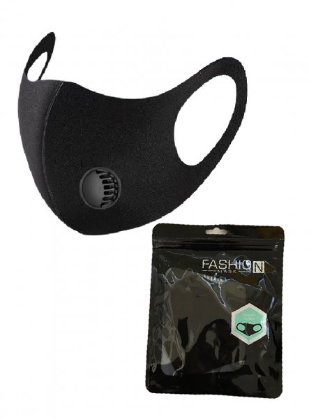 Fashion Face Mask - Black with Filter