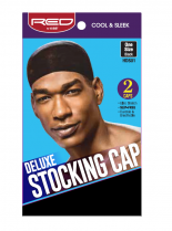 RED By Kiss: Deluxe Stocking Cap 2pc - Black (HDS01)