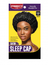 RED By Kiss: Satin Sleep Cap - Black Large (HSL01)