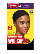 RED By Kiss: Stocking Wig Cap 2pc - Black Super Wide (HWC05)