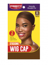 RED By Kiss: Stocking Wig Cap 2pc - D/Brown (HWC02)
